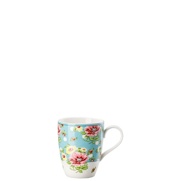 Mug with handle Springtime Flowers Türkis