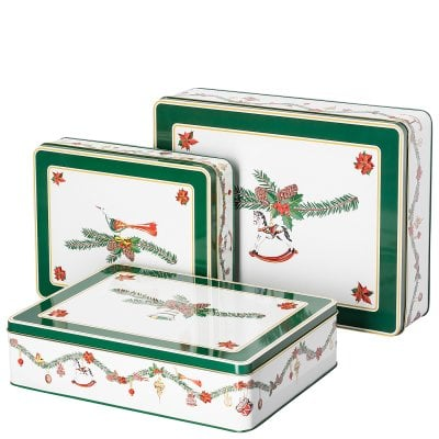 Set 3 biscuit tins Nora Christmas