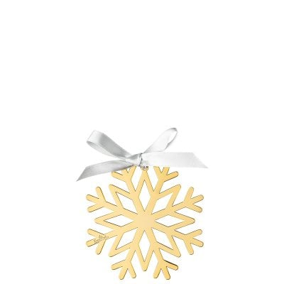 Pendant Snowflake 8cm Silver Collection Christmas Gold