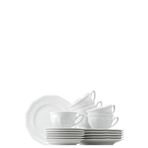 Coffee set 18 pcs. Maria White