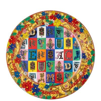 Christmas plate Versace Holiday Alphabet