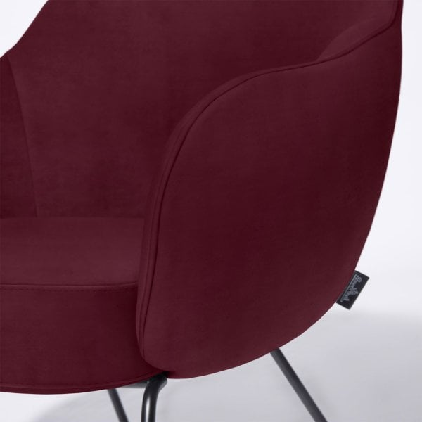 Chair HOLD Wine Red Fabric