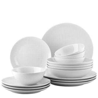 Set 16 pcs. / Cereal dish Mesh White