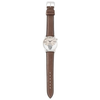 Wrist watch Lady Rock'n'Skull silver-titan-grey