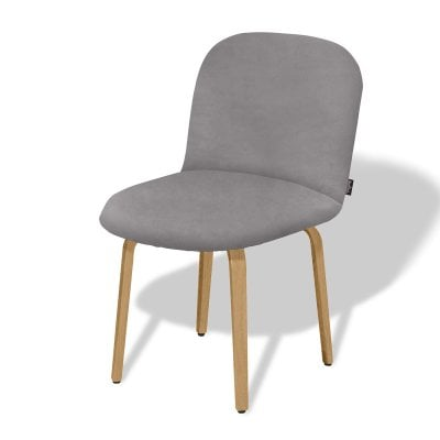 Chair without armrests BOLBO Elephant Grey Fabric