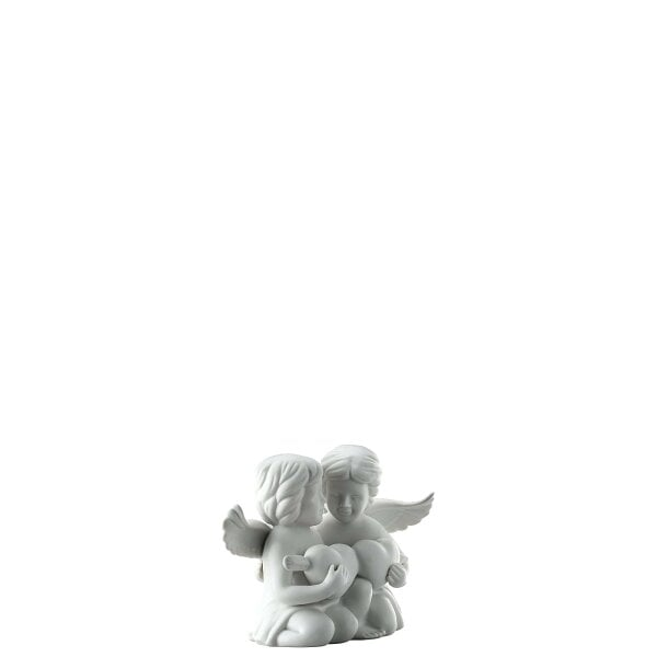 Pair of angels with heart Angel middle White-mat