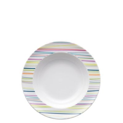 Assiette creuse 23 cm Sunny Day Sunny Stripes