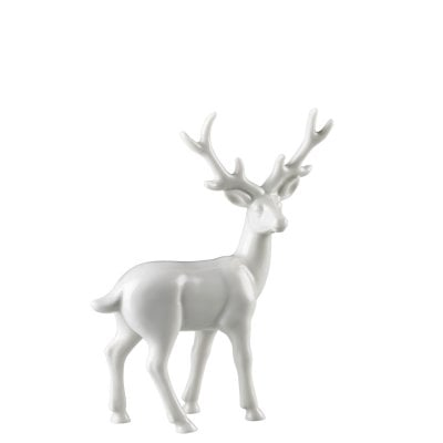 Figurine Stag Fantasy Forest White