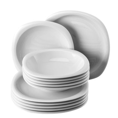 Dinner set 12 pcs. Suomi White