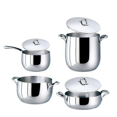 Set 7 pcs pots and pans Kikka Stainless steel 18/10
