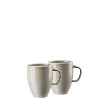 Set 2 mugs with handle Junto Pearl Grey
