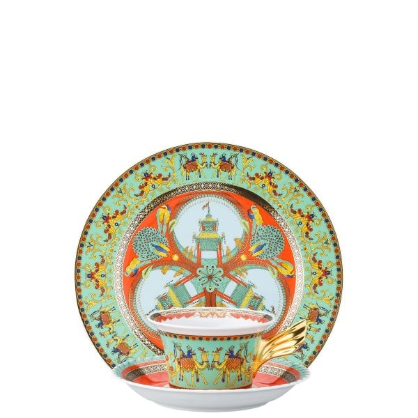 Set Teller + Tasse / 25 Years Versace Marco Polo