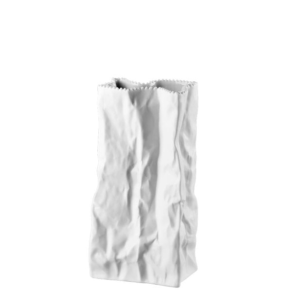 Bag vase 22 cm Do not litter White-mat