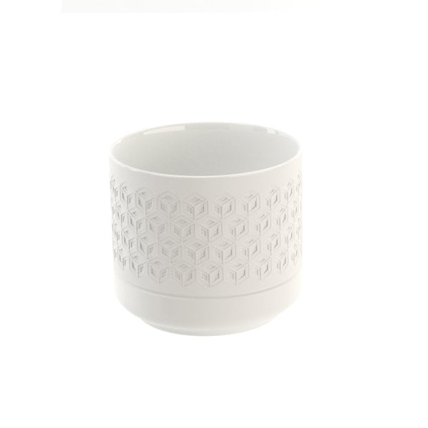 Tooth mug Equilibrium Hexagon White mat