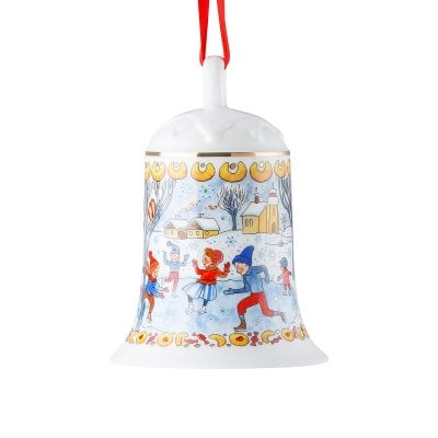 Porcelain bell 12 cm Sammelkollektion 18 Winter pleasures
