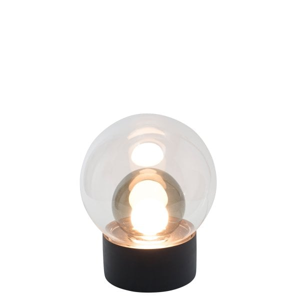 Boule Small black, Glass transparent/smokey grey