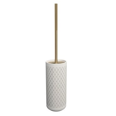 Free standing toilet brush Equilibrium Netting White Bronze
