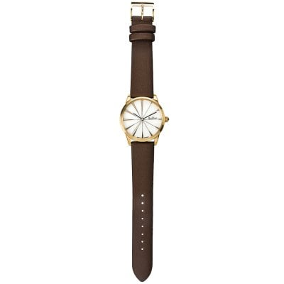 Damen-Armbanduhr Sunray gold-white-brown