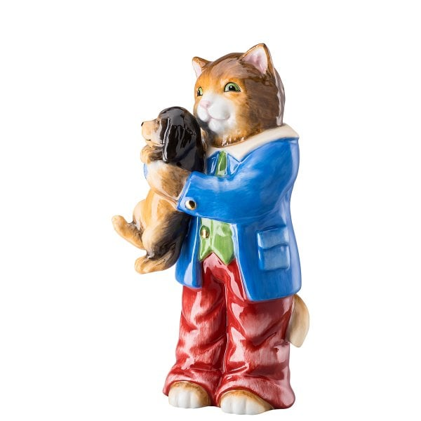 Tomcat with dog Ostern decorated