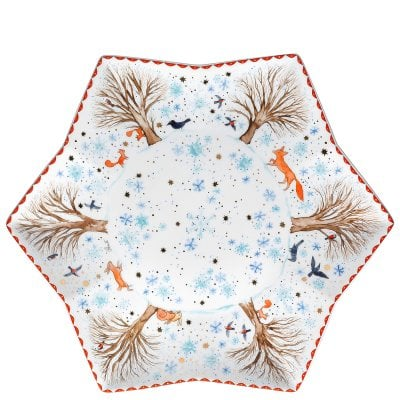 Tray star-shaped 34 cm Sammelkollektion 18 Winter pleasures