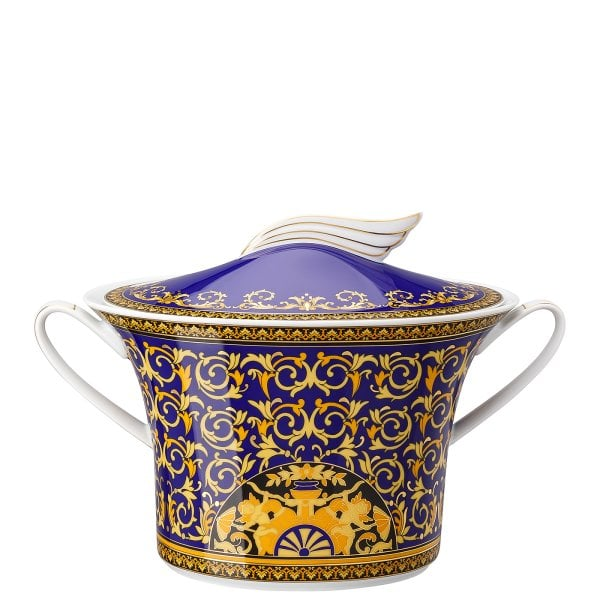 Soup tureen 2 Ikarus Medusa blue