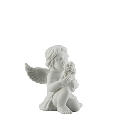 Angel with flowers Angel middle White-mat