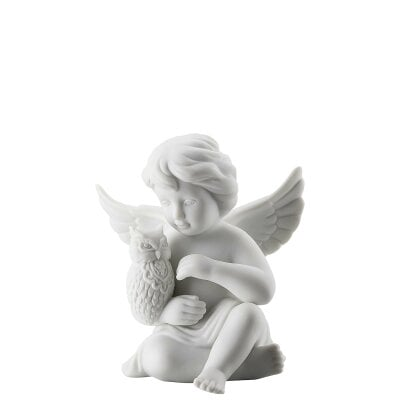 Angel with owl Angel middle White-mat