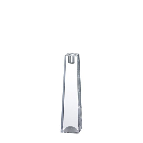 Candleholder 25 cm Blockglas glossy