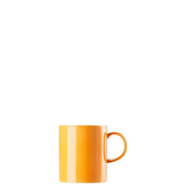 Mug with handle large Sunny Day Orange