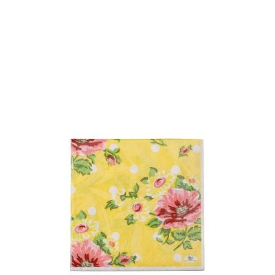 Serviette 33 x 33 cm / 20 pieces Springtime Flowers Sun