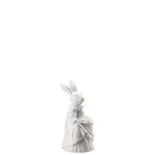 Lady hare with eggs Hasenfiguren White