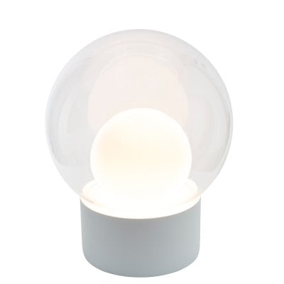 Boule Medium white, Glass transparent/opal white
