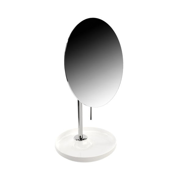 Magnifying mirror Equilibrium White mat Chrome