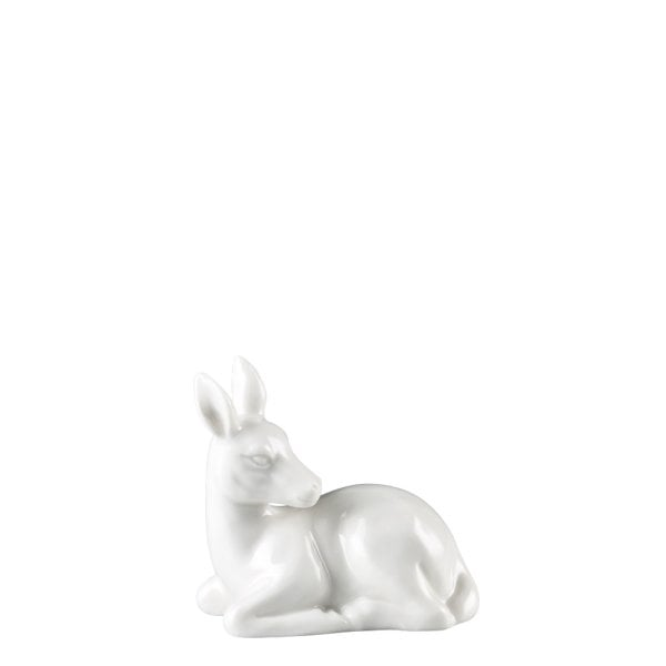 Figurine Fawn lying Fantasy Forest White
