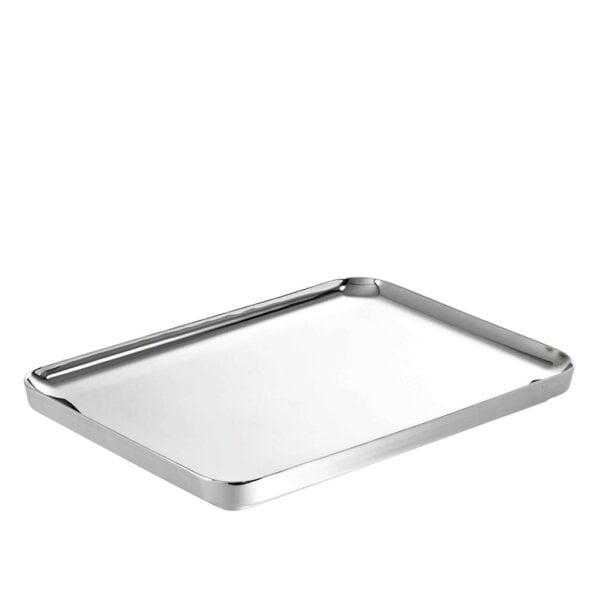 Tray rectangular 40 x 27 cm t-light Stainless steel 18/10