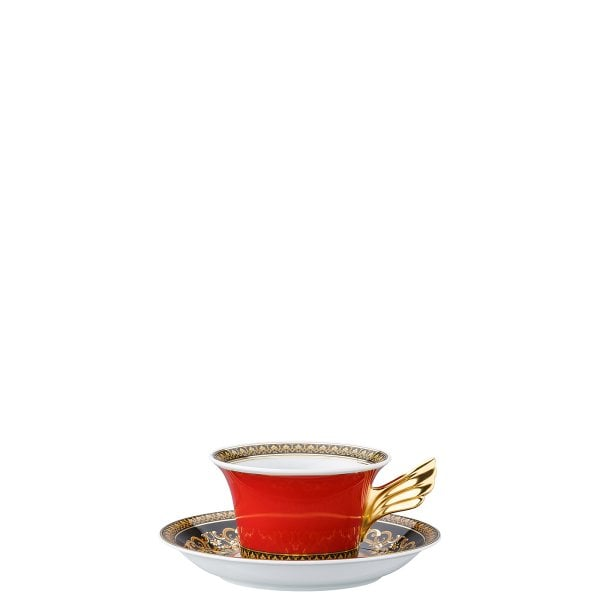 Set plate + cup & saucer / 25 years Versace Medusa