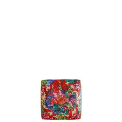 Bowl 12 cm square flat Versace Reflections Holidays
