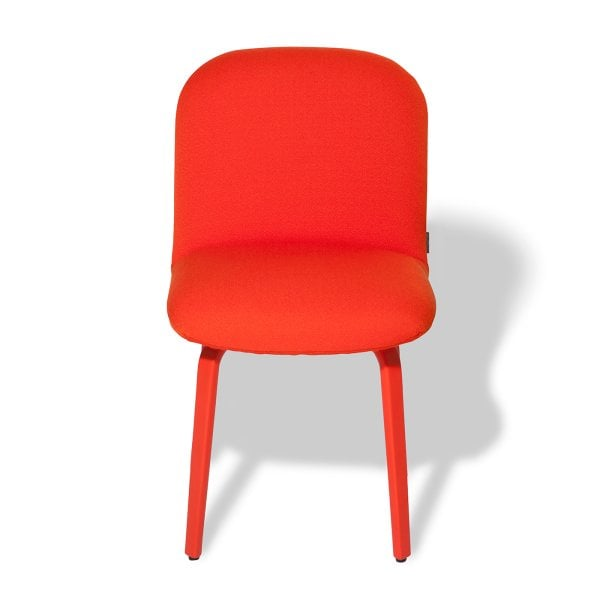 Chair without armrests BOLBO Orange Fabric