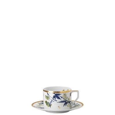 Tea cup with saucer Rosenthal Heritage Turandot white