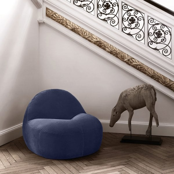 Poltrona / Poltroncina SCOOP Midnight Blue Tessuto