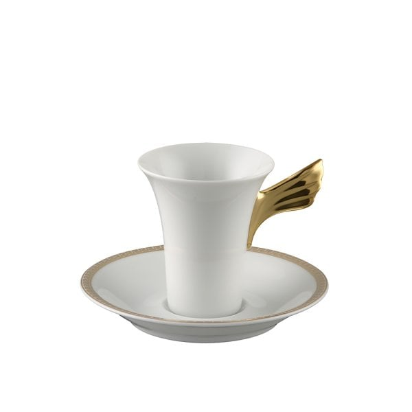 Cup & saucer 2 tall Ikarus Med. Meandre d`Or