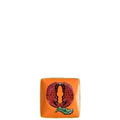 Bowl 12 cm square flat Versace Holiday Alphabet Q