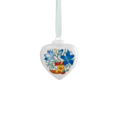 Porcelain mini-heart Spring greetings Feldrittersporn
