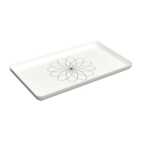 Tray Equilibrium White mat Gold