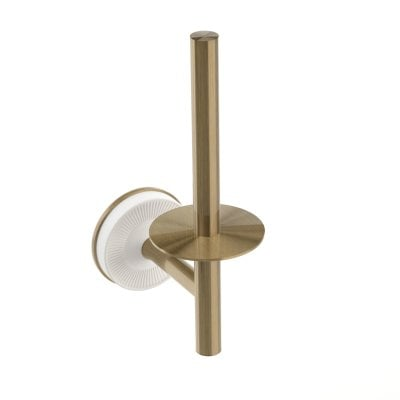 Vertical paper holder Equilibrium White mat Bronze