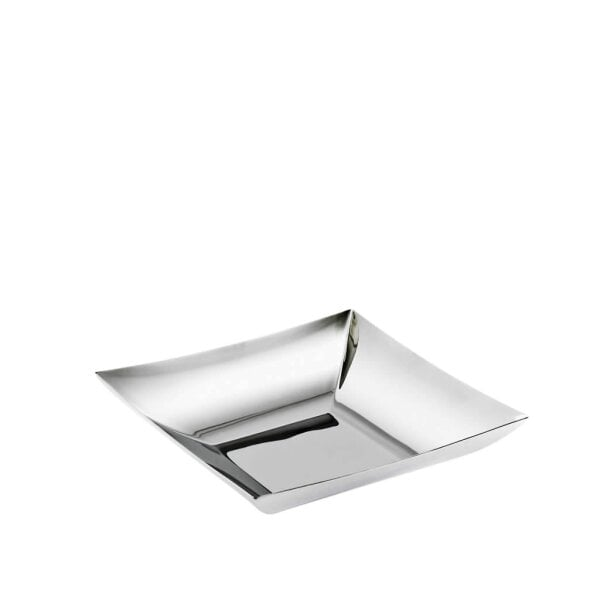Square fruit bowl 24 x 24 cm Linea Q Stainless steel 18/10