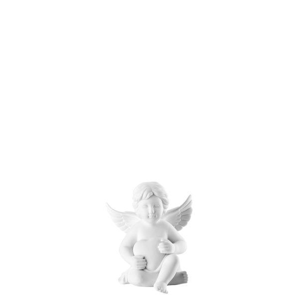 Angel with heart 6,5 cm Angel small White-mat