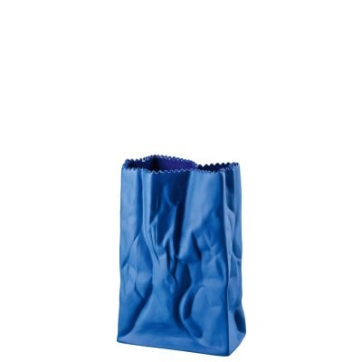 Vase 18 cm Bag vase Deep blue