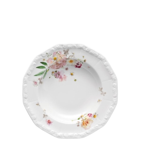 Plate deep 23 cm Maria Pink Rose