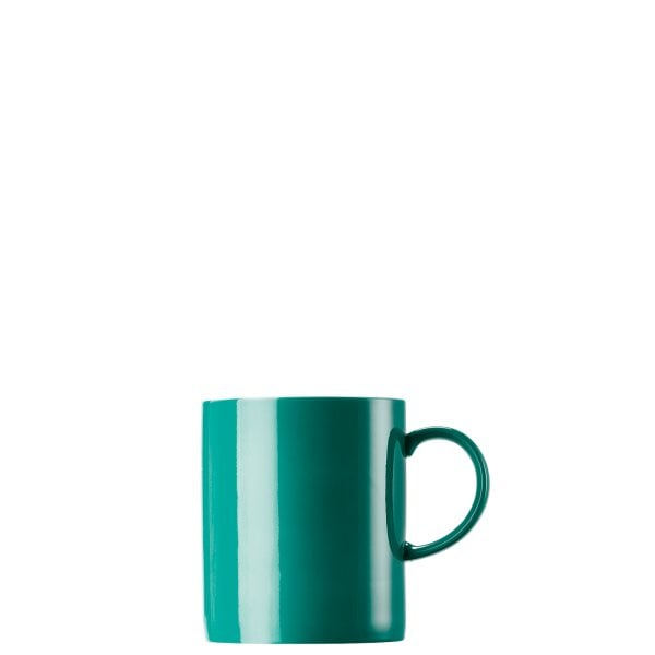 Mug with handle large Sunny Day Seaside Green